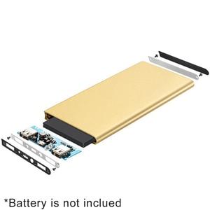 Image 4 - 1 sztuk 7566121 Powerbank na energię słoneczną przypadku Powerbank pokrywa puste DIY opakowanie na power bank Dual USB zestaw ładowarka latarka