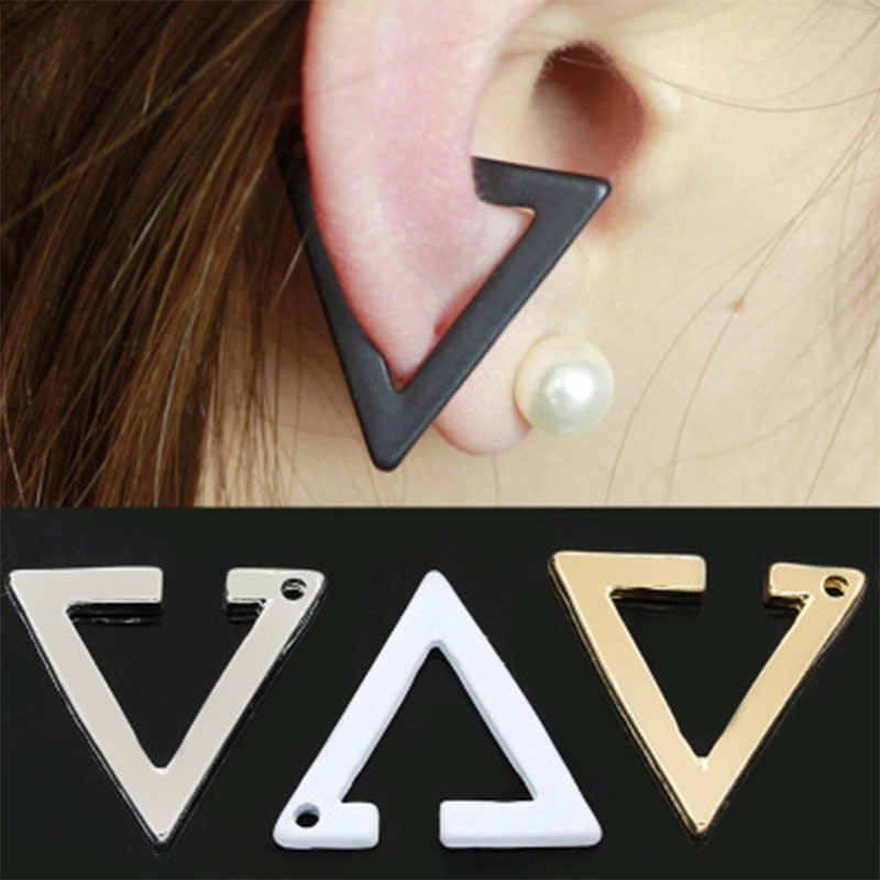 2019 Fashion New Bijoux Brincos Geometric Triangle Ear Clip Ear Cuff Earrings For Women Jewelry Gifts Orecchini Pendientes WD332 in Clip Earrings from Jewelry Accessories