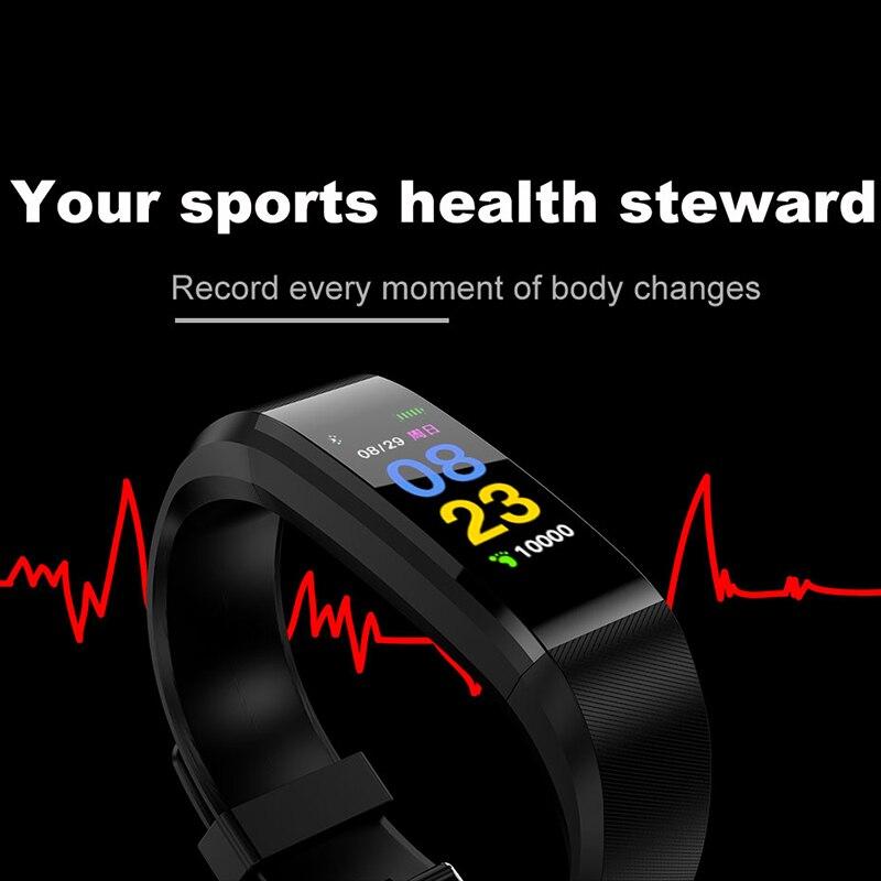 115 plus Farbe OLED Bildschirm Smart Gesunde Armband IP67 Wasserdichte Schrittzähler Tracking Kalorien Schlaf für Android IOS Smartphones