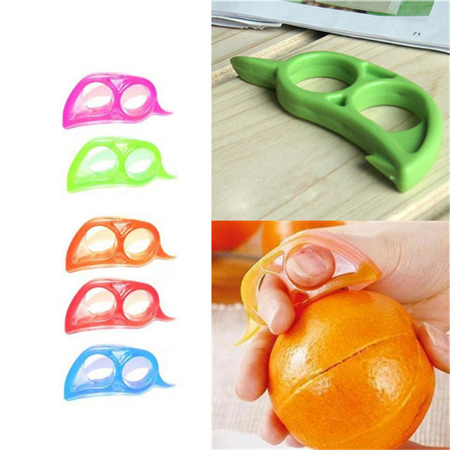 1PC Plastic Orange Peelers Lemon Slicer Zesters Grapefruit Fruit Stripper Opener Citrus Kitchen Vegetable Fruit Tools