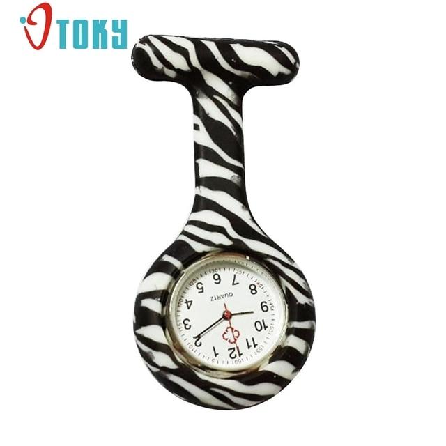 OTOKY Silicone Stainless Round Dial Quartz Fob Quartz Pocket Nurse Watch relojes