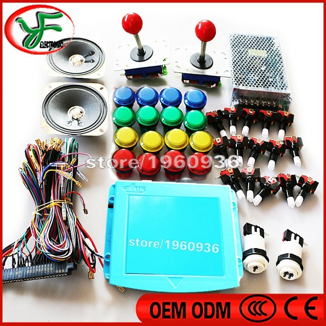 3set diy arcade cabinet kit 645 in 1 PCBzippy joystick LED push button Wire harness power_640x640 aliexpress com buy 3set diy arcade cabinet kit 645 in 1 pcbzippy Off-Road Light Wiring Harness at crackthecode.co