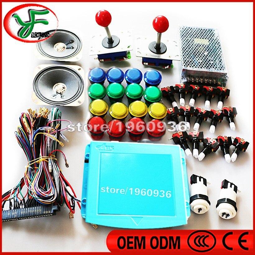 DIY Arcade Cabinet kit 999 in 1 PCB Board Zippy /joystick /LED Push ...