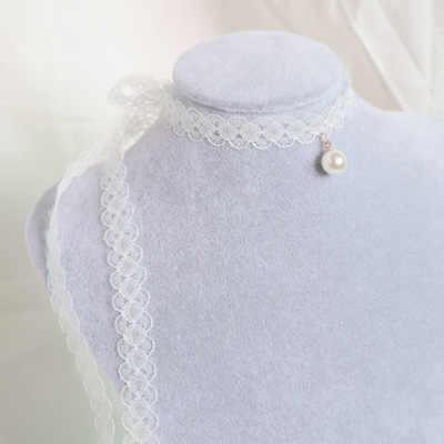 Kadın inci gerdanlık kolye kalp aşk kolye dantel kadife kısa klavikula kolye moda takı 2019 kız sevimli takı