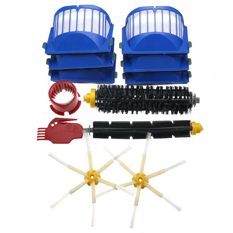 6-15Pcs/Set Filter Brush Kit Beater Brush Filters Kit for IRobot Roomba 600 Series 605 615 616 620 621 631 651 Cleaning Tools image