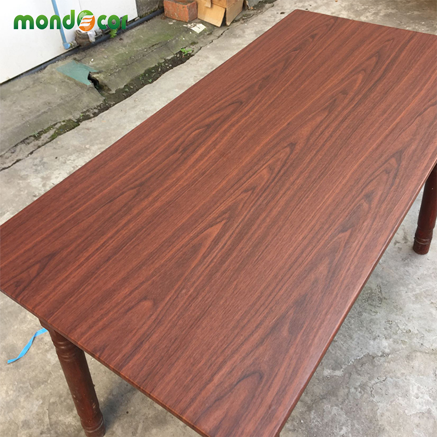 Wrapping wood grain self adhesive wallpaper furniture door stickers waterproof PVC vinyl contact paper for kitchen home decor in Wall Stickers from Home Garden