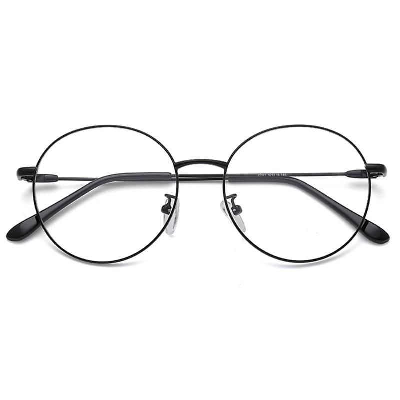 Photochrome Brille Gläser Computer Männer Rezept Myopie Licht Runde Proof Kurzsichtig Legierung Klar Frauen Für Blau qUxwA0