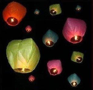 35pcs/lot Chinese Sky Lanterns Wishing Lamp for Birthday Wedding Party China paper lantern,SL078,Free shiping