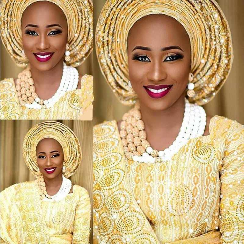 Costume Bridal African Gold Jewelry Set White Nigerian Necklace Beads Layers Jewellery Set For Bride Women Free Shipping 2018
