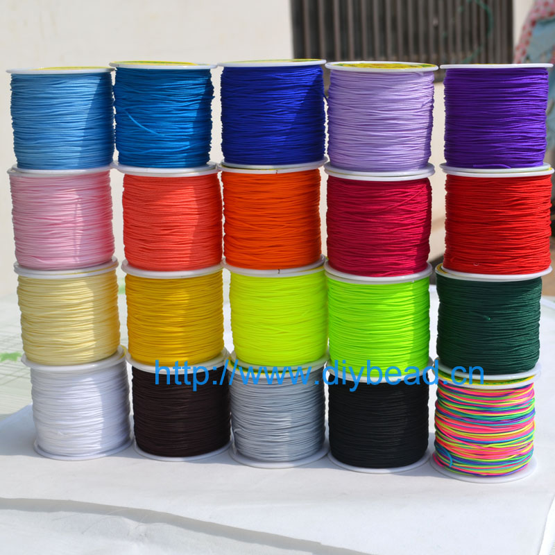 20 Colors 20m Nylon Cord Thread Chinese Knot Macrame Cord Bracelet Braided String DIY Tassels Beading Shamballa String Thread pearl beading knot front ruffle top