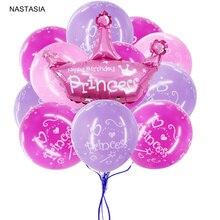 NASTASIA 10/pcs prinzessin uminum film ballon und gedruckt ballon geburtstag dekorationen kinder baby dusche liefert
