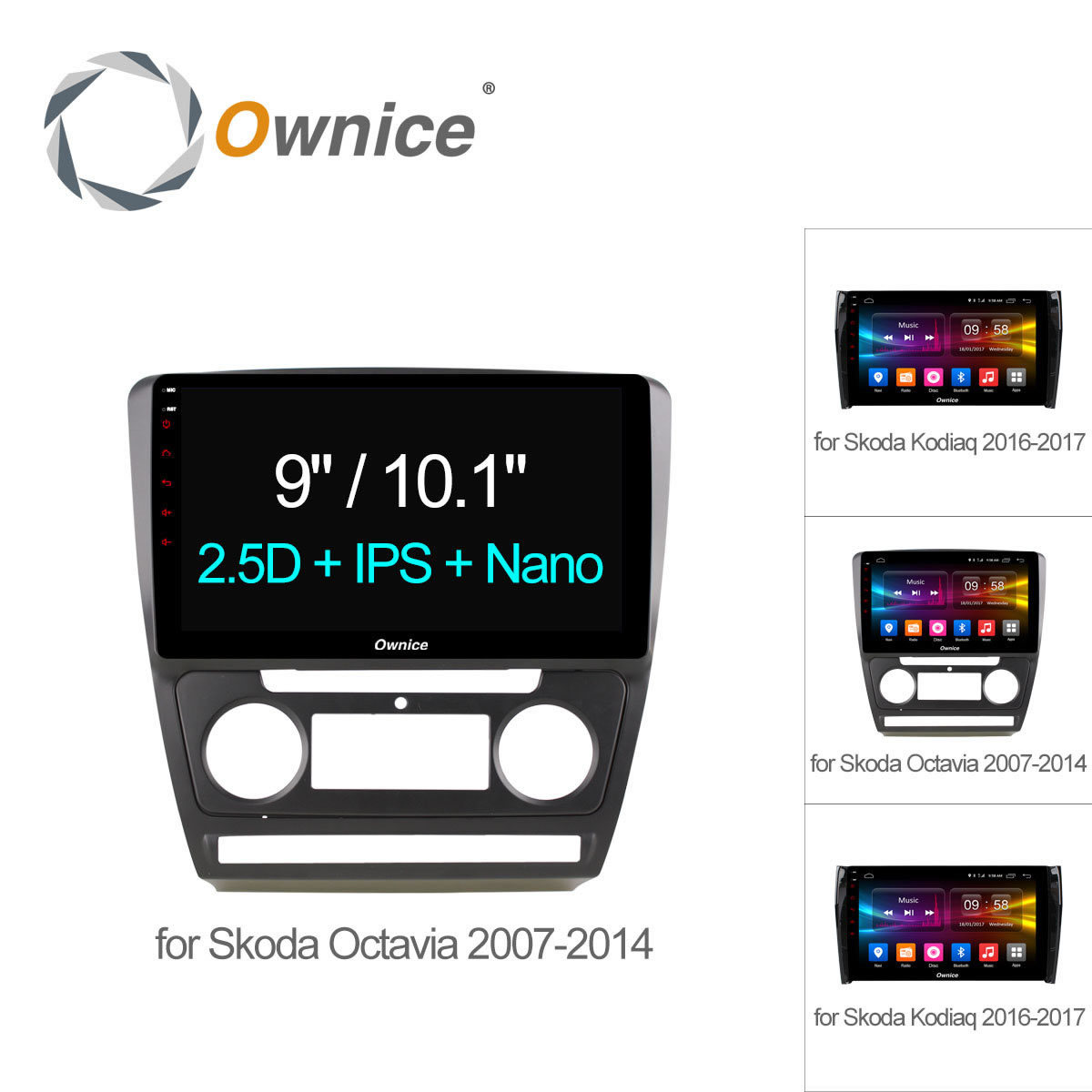 Ownice C500 10.1 Octa Octa core Android 6.0 Car DVD Player GPS Navigation for Skoda Octavia 2007 2008 KODIAQ 4G SIM TPMS DAB