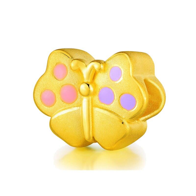 New Solid 999 24K Yellow Gold Bracelet 3D Butterfly Bracelet 0.91g недорго, оригинальная цена