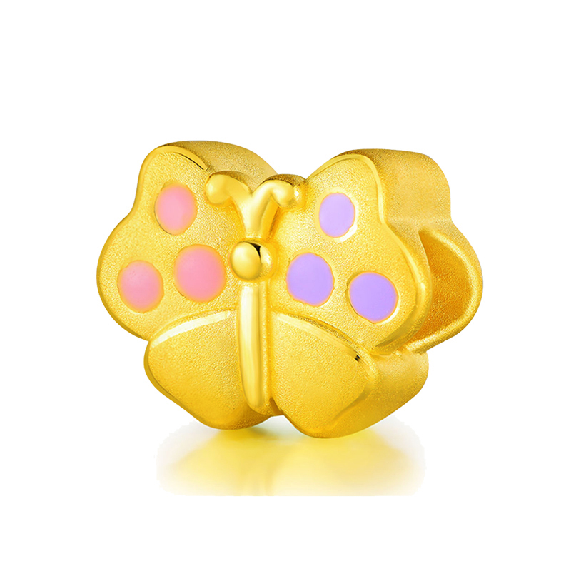 Nouveau Bracelet en or jaune 999 24 K solide Bracelet papillon 3D 0.91gNouveau Bracelet en or jaune 999 24 K solide Bracelet papillon 3D 0.91g