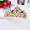 Барокко стиль высокой моды красный невесты большая корона свадебные украшения бутик головные уборы компания розничной HG0120