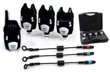 Wireless fishing bite alarm with Black Swingers 3+1 set waterproof interchangeable LED carp fishing