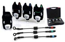 Беспроводной рыбалка укус сигнализация с черными свингеры 3+1 водонепроницаемый сменные светодиодные карп рыбалка