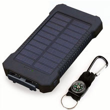 For Xiaomi Smartphone with LED Light Waterproof Solar Power Bank 30000mAh Solar Charger 2 USB Ports External Charger Powerbank(China)