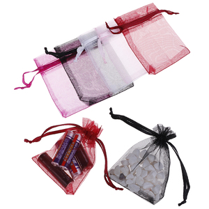 100 Pcs/bag Organza Drawstring Bags Jewelry Mesh Gift Pouches Container Drawstring Bags
