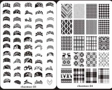 CHAOMAO Design SIZE XL Nail Art Stamping Plates Stainless Steel  Image Konad Large BIG Template DIY PlateS