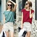 2016 Women Summer Style Casual Linen Top Blouse Shirt Feminine Plaid Female Office Suit Set Women's Costumes Hot Denim Shorts