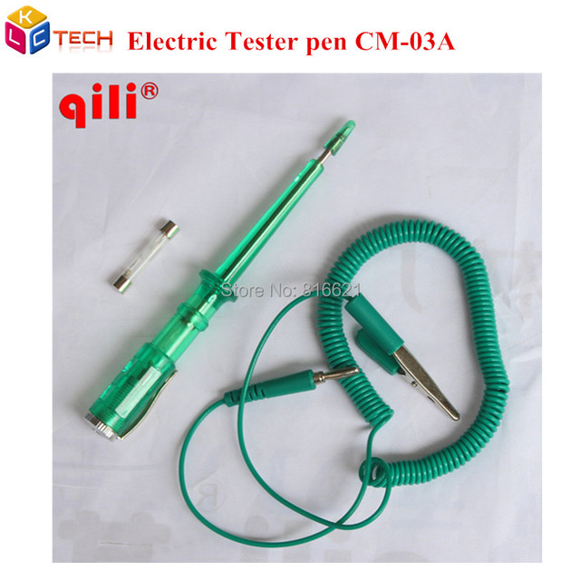Qili CM 03A Green Color Electrical Test Tester Pen Spring Wire ...