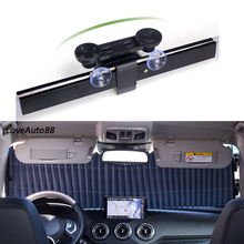 Car Universal Front Rear Sunshade Cover Window Covers Automatic retractable Auto UV Protection Windshield Sun Shade Foil Curtain for honda civic 2017 2018 front rear sunshade cover window covers automatic retractable auto uv protection windshield sun shade