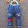 Free shipping 2017 spring-autumn new style star cartoon fashion character children pants kid baby girl boy  jeans for 1-5 years