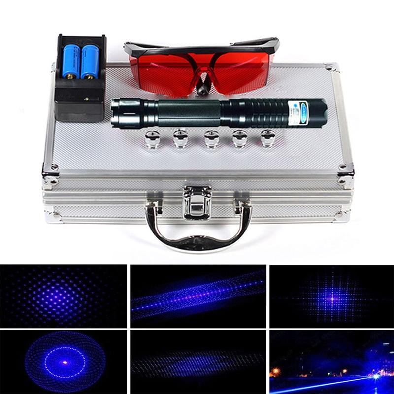 Outdoor Most Powerful Laser Torch Burning 70000m Blue Pointer 450nm Ignite Lazer Self-Defense
