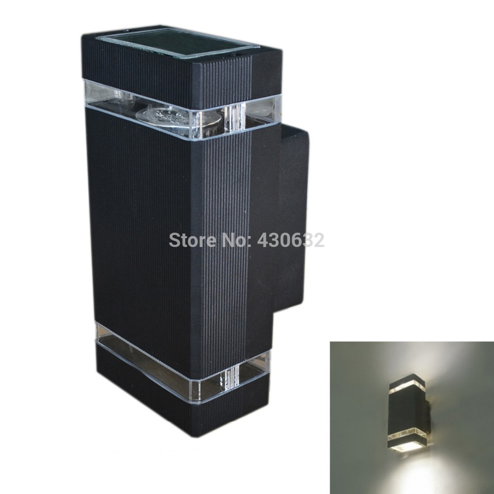 Outdoor porch lamp - 10pcs Lot Led Waterproof Outdoor Wall Lamp 8w Ip65 Ac85 265v Aluminum Led Porch Light Free Shipping