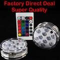 4 Pieces/ Lot Submersible Remote LED Light Centerpiece Party Multicolor Glass Vase Base