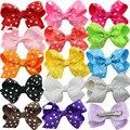 Polka Dot  Grosgrain Ribbon Hairbows,kids Baby Girls' Hair Accessories With Clip,Boutique Hair Bows Hairpins