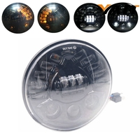 Yait 1pcs 7inch H4 H13 Led Motorcycle Headlight With Left Right Turn Signal Light For Harely