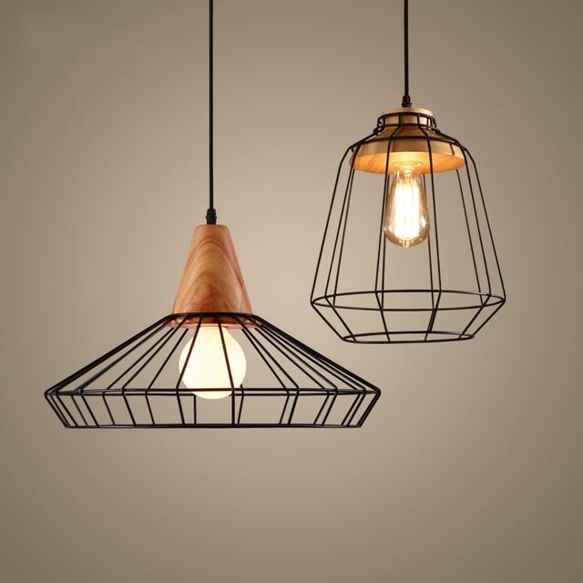 Retro Industrial Lighting Vintage Loft Style Cafe Restaurant Suspension  Pendant Lights Black Nordic Kitchen Lamp AC110V