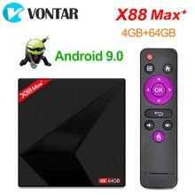 4K 안드로이드 9.0 TV 박스 X88 맥스 플러스 4GB Ram 64GB Rom RK3318 펜타 코어 2.4G/5G 와이파이 BT4.0 USB3.0 X88MAX + 스트리밍 미디어 플레이어