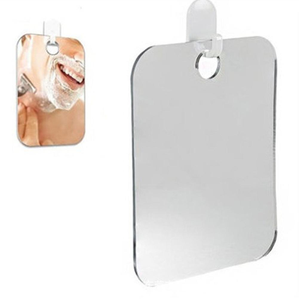 13x17cm Portable Acrylic Anti Fog Shower Bathroom Travel Trip Men Shaving Mirror