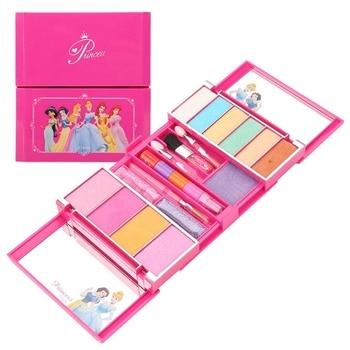 Disney-Set de maquillaje portátil para niños y niñas, no tóxico, Kit de maquillaje DIY para niñas, juguete para juego de imitación