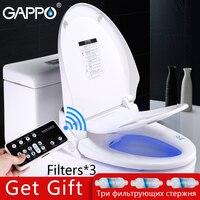 GAPPO Смарт сиденье для туалета туалет спрей Биде Умывальник электрическое биде крышка тепла сидеть свет интегрированы для детей траинг стул