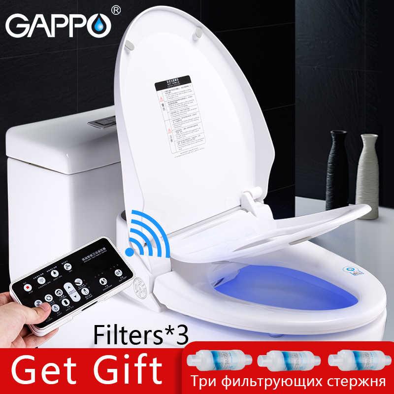 GAPPO مقعد مرحاض ذكي المرحاض رذاذ بيديه بيديه كهربي غطاء الحرارة الجلوس مصباح ليد المتكاملة الأطفال الطفل traing كرسي