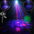 Outdoor Waterproof RGB Laser Snow Sky Patterns Projector Full Color Holiday Party Xmas House Tree DJ Landscape Garden Light T60
