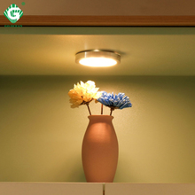 LED Under Cabinet Light Indoor Lighting 2.5W 12V Bar Counter Lights kitchen Cupboard Bookcase Cabinet Puck Lamp Fixtures  - buy with discount