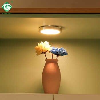 LED sous le Cabinet lumière éclairage intérieur 2.5W 12V Bar comptoir lumières cuisine placard bibliothèque armoire Puck lampe luminaires