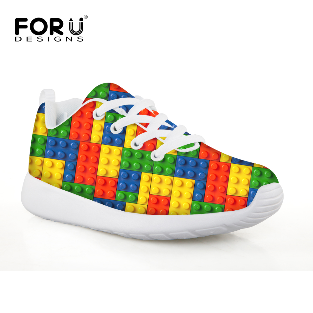 FORUDESIGNS Colorful Funny Toy Printing Tennis Mesh Shoes Elastic Breathable Outdoor Sport Sneakers for Kids Girls Children Shoe ...
