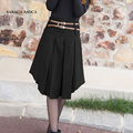New Retail 2 Color Solid Irregular Pleated Skirt Women's Fashion Mid-Calf Short Skirt Winter For Girls