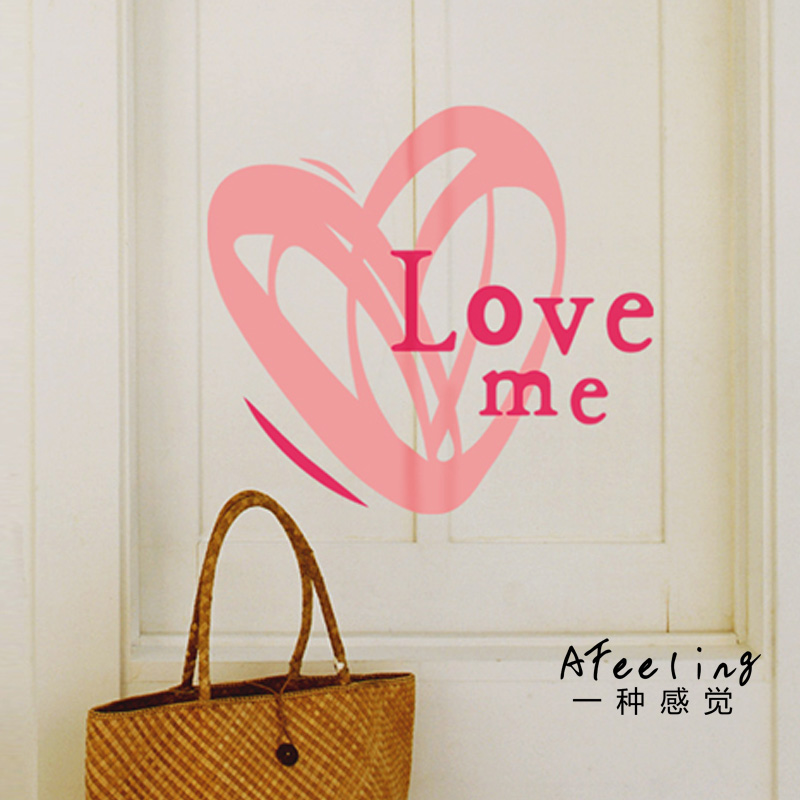 AFeeling Art love decorative wall stickers warm home living room sofa backdrop door stickers