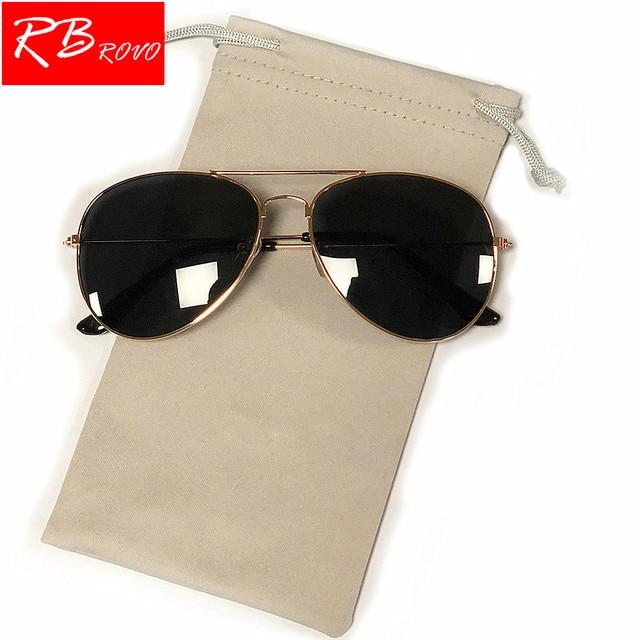 cb5f61ff7b4 RBROVO 2018 Pilot Sunglasses Women Men Top Brand Designer Luxury Sun Glasses  For Women Retro