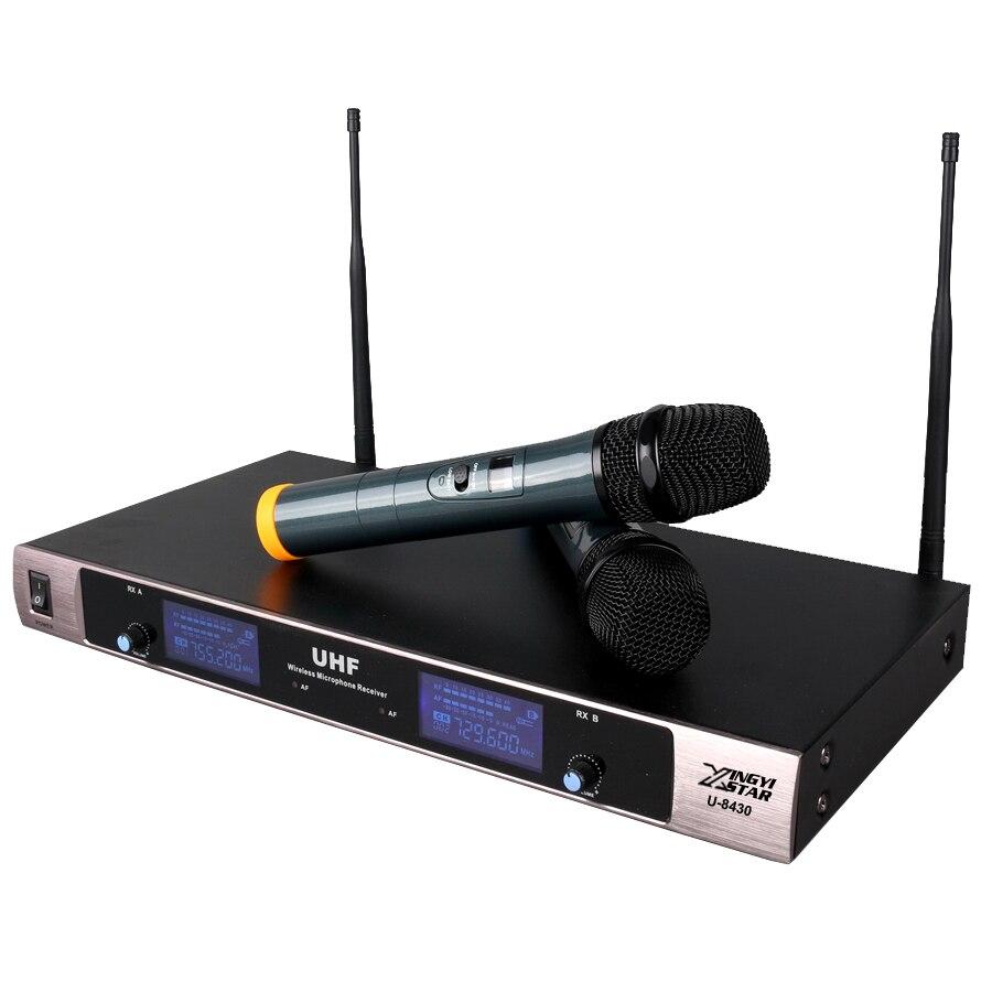 Envío gratis profesional UHF sistema de micrófono inalámbrico de - Audio y video portátil - foto 2