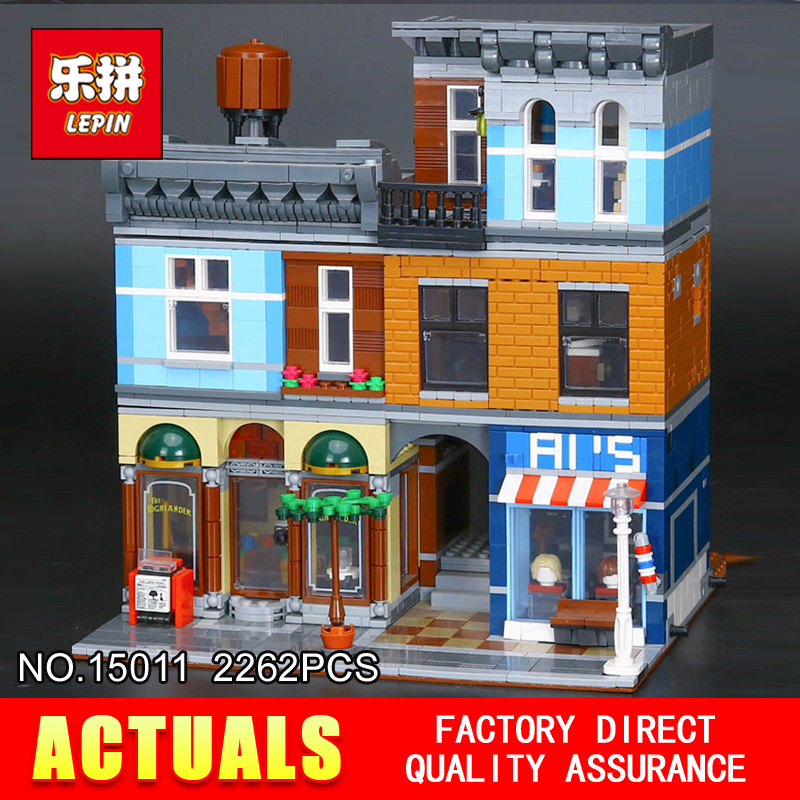 Lepin 15011 2262Pcs Parsian Creator Expert City Street restaurant Avengers Set Assemble Building Blocks Children Toys Gift 10197 lepin 15011 parsian creator expert city street resturant minifigure avengers set assemble building blocks toys compatible legeod