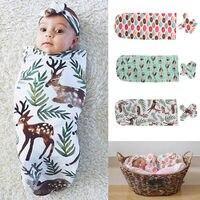 Newborn baby boys girls organic cotton blanket headband swaddle sleeping sleepsack stroller wrap baby boy girl.jpg 200x200
