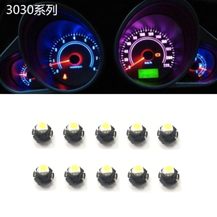 10Pcs T4 2 car and motorcycle instrument bulb 2W 6000k instrument panel for Toyota Honda Nissan 12V universal white light in Signal Lamp from Automobiles Motorcycles